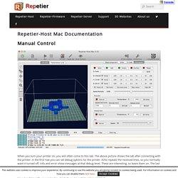 Manual Control - Repetier-Host Mac Documentation