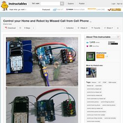 Control your Home and Robot by Missed Call from Cell Phone