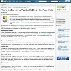 Tips to Control Screen Time for Children - The Paras World School by Paras world School
