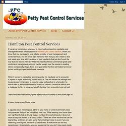 Petty Pest Control Services: Hamilton Pest Control Services