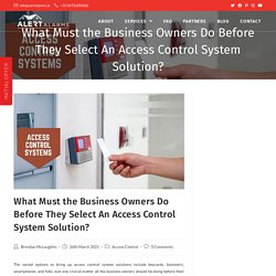 Access Control System Solution For Business Owners