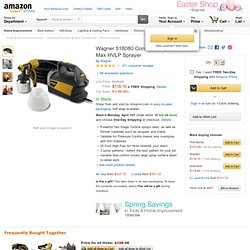 Wagner 518080 Control Spray Max HVLP Sprayer - Amazon.com