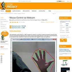Mouse Control via Webcam