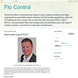 Flo Control: What makes a good PICV?