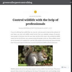 Control wildlife with the help of professionals – greenvalleypestcontrolblog