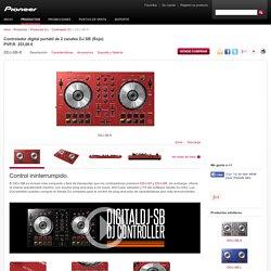DDJ-SB-R Controlador digital portátil de 2 canales DJ SB (Rojo) - Pioneer Controlador DJ