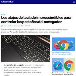 Cómo controlar las pestañas del navegador desde el teclado