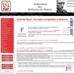 Contrôle fiscal : les règles comptables à observer