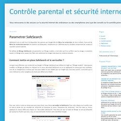 Parametrer Google avec SafeSearch