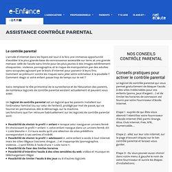 Controle parental gratuit - Activer un controle parental