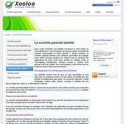 Contrôle parental sur tablette - Xooloo