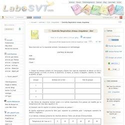 Contrôle Respiration niveau cinquième (version imprimable)