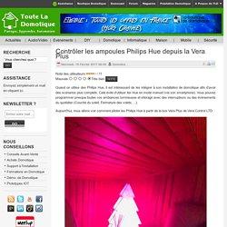 Contrôler les ampoules Philips Hue depuis la Vera Plus