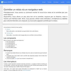 Contrôler un relais via un navigateur web - Nawras GEORGI