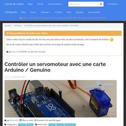 Contrôler un servomoteur avec une carte Arduino / Genuino