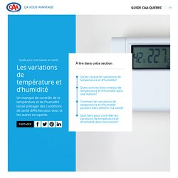 Contrôler la température et l'humidité à la maison