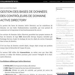 Gestion des bases de données des contrôleurs de domaine Active Directory