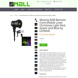 Moving RGB Remote Controllable Laser Christmas Light Red, Green and Blue by LEDMall - Laser Lights