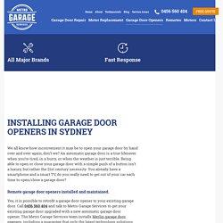 Remote Garage Door Opener