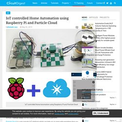 IoT controlled Home Automation Project using Raspberry Pi and Particle Cloud