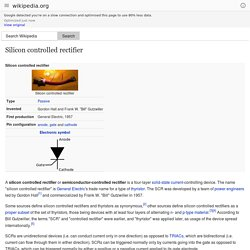 Silicon controlled rectifier - Wikipedia, the free encyclopedia