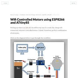 Wifi Controlled Motors using ESP8266 and ATtiny85