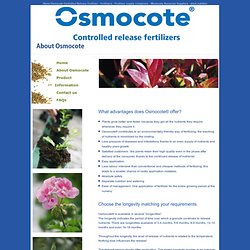 About Osmocote Controlled Release Fertilizer - Fertilizers - Fertilizer supply companies - Wholesale Nurseries Suppliers - plant nutrition