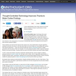 Thought-Controlled Tech Improves Thanks to Motor Cortex Findings