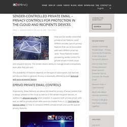 Protection in the Cloud & Recipient's Devices