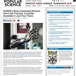 DARPA's Brain-Controlled Robotic Arm Fast-Tracked, Could Be Available in Just Four Years