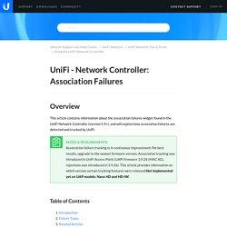 UniFi - Network Controller: Association Failures – Ubiquiti Support and Help Center