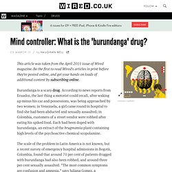 Mind controller: What is the 'burundanga' drug?