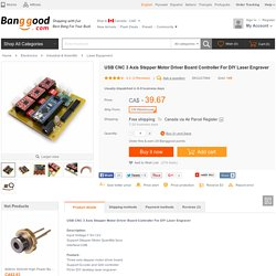 USB CNC 3 Axis Stepper Motor Driver Board Controller For DIY Laser Engraver Sale-Banggood.com
