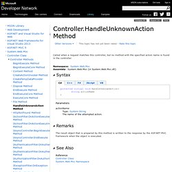 Controller.HandleUnknownAction Method (System.Web.Mvc)