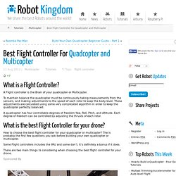 Best Flight Controller For Quadcopter and Multicopter ← Robot Kingdom
