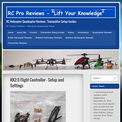 KK2.0 Flight Controller – Setup and Settings