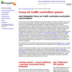 funny air traffic controllers quotes and amusing aviation conversations