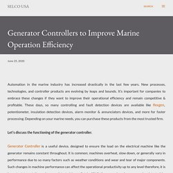 Generator Controllers to Improve Marine Operation Efficiency