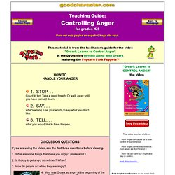 Controlling Anger - Managing Anger - Getting Along - Lesson Plans - Elementary