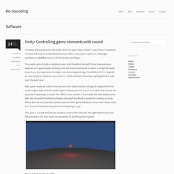 Unity: Controlling game elements with sound