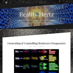 Generating & Controlling Brainwave Frequencies