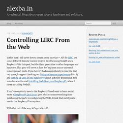 Controlling LIRC from the web - alexba.in
