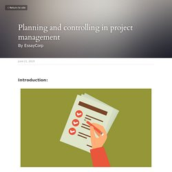 Planning and controlling in project management