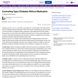 Controlling Type 2 Diabetes Without Medication
