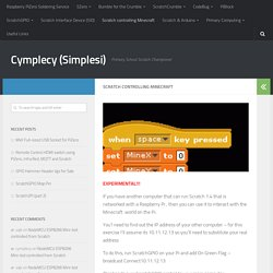 Scratch controlling Minecraft – Cymplecy (Simplesi)