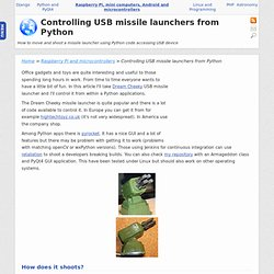 Controlling USB missile launchers from Python