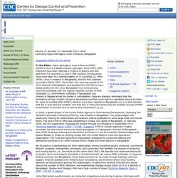 CDC EID – DEC 2012 – Au sommaire: Controlling Highly Pathogenic Avian Influenza, Bangladesh