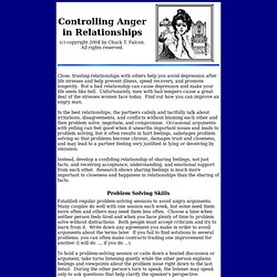 Controlling Anger in Relationships: Free Counseling Advice