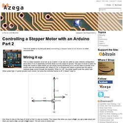 Controlling a Stepper Motor with an Arduino Part 2