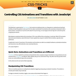 Controlling CSS Animations and Transitions with JavaScript